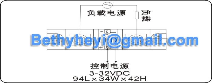 Fornecimento de fábrica SSR-H3250ZF 250A Industrial Relé de Estado Sólido