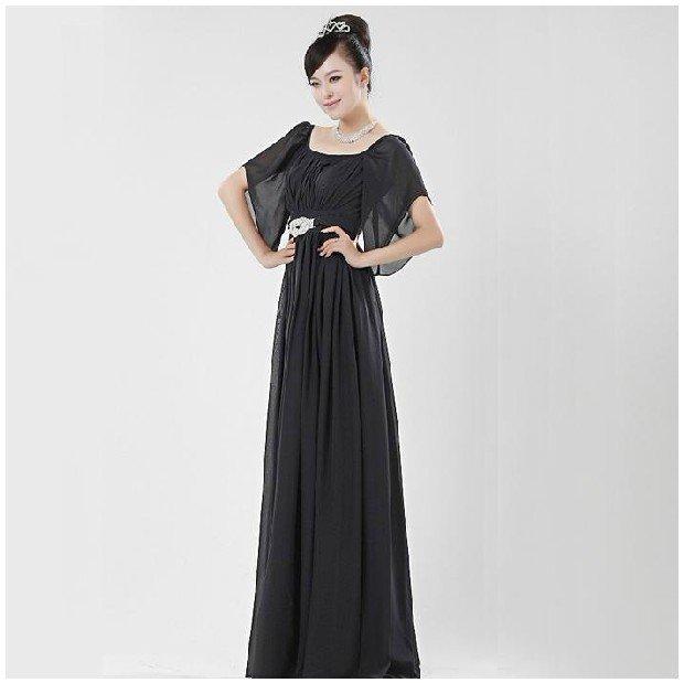 Yiwu Topshop 2012 Oem Classic Vintage Long Design Women Lady Black