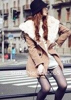 бесплатная доставка в новый женский хан кардиган кролик волосы принес ткань длинное пальто
