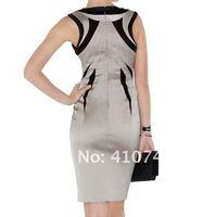 бесплатная доставка женская мода элегантные платья без рукавов леди свободного покроя благородные большой размер высокое качество