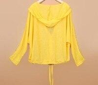 лето женщины верхний, короткая дизайн защита от солнца одежда, рукава в форме крыла летучей мыши кондиционируемый рубашка прозрачный
