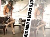 прямая поставка фр дамы мода сексуальное вечерние туфли на каблуках черный / серебристый цвет ну вечеринку туфли на высоком каблуке размер обуви 35 - 39 478