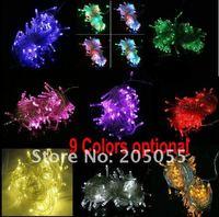 110 в 100 светодиодных 10 м/32 футов светодиодные фея света на инсульт rods wade полива сбой праздника хвост подключите дополнительно-9 видов цветов