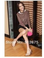 бесплатная доставка оптовая продажа новинка хлопок рукав фонарик женская рубашка с длинными рукавами футболки 2 цветов