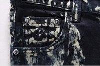 оптовая продажа мужская топ бренд свободного покроя тонкий прямые брюки печать синий мужчины джинсы брюки размеры 28 - 36 магазин нет.413092