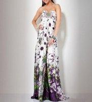 печать fabirc не складки и бисероплетение ручная вечернее платье без бретелек ol101849