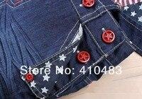 rk0035 бесплатная доставка новое постулат детские джинсы мода девочка мальчик джинсы сочетает осенние детские брюки опт и Роза