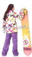 бесплатная доставка новое поступление женщин водонепроницаемый сноуборд куртка дамы струи лыжах топы девочек с капюшоном для лыжников лыжная куртка