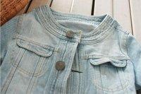 пальто и куртки для женщины, джинсовый верхней одежды, деним куртка
