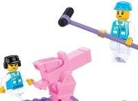 своими руками девочка 176 шт. строительные блоки розовый сладкий девочка игрушка мечта певица показать кирпичи просвещайте блоки игрушка подарок