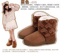 тёплый зима лежа на высоких каблуках сплошной снегоступы лежа женщина в форме сердца мягкий плюш обувь, женщины зима сапоги сгустите