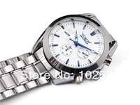 новый! роскошь и мода бренд классические мужские стиль 6 руки швейцарский автоматические механические бизнес стали наручные часы