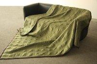 бесплатная доставка продажа 145 * 180 см роскошный бренд 100% микро-ватки / квадратный узор rebersible одеяло заполнены хлопка