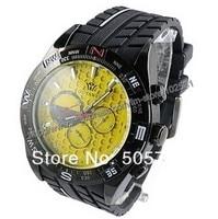 горячая распродажа людей мода и стиль автоматическая Mechanic желтый военные наручные часы