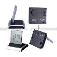 жк-дисплей цифровой дисплей из светодиодов черный свет 7 цветов красочные сигнализация часы + термометр + календарь