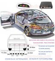 новый бесплатная доставка автомобилей из светодиодов дисплей 4 обратный резервного копирования радар