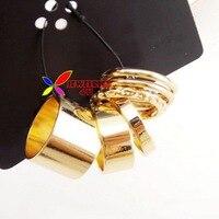 золото пол метай палец кольца комплект для мужчины / женщины 6 шт. / комплект * 6 шт. комплект/много * диаметр 1.6 см / 1, 8 см