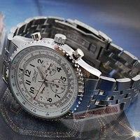 супер белый циферблат 6 руки автоматический механические часы многофункциональным белый клетку реванш мужские часы бесплатная доставка прямая поставка
