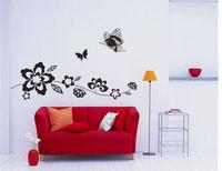 мода романтический сердце цветы сердце декор стены наклейки фрески главная наклейки винил А65 57*70 см