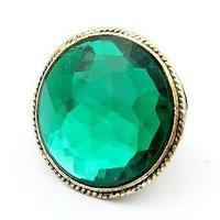 минимальный. заказ $ 5 бесплатная доставка, мода старинные ретро большой зеленый GR rustle кольцо