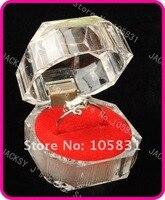 40шт-прозрачный акрил кольцо коробка верхний класс коробка для ювелирных изделий чехол