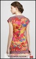 топ высокое качество женская мода дизайнер поп потрясающие печати джерси шелковое платье платье плюс размер