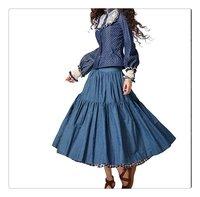 demonstyle весна новое постулат женская мешок рукавом джинсы блузка, женская блузка sa10028c