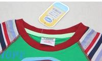 оптовая продажа 5 шт./лот, мальчиков лето хлопок футболка с торфом Mile костюм 92-116cmchildren с Корк рукавом хлопок футболка