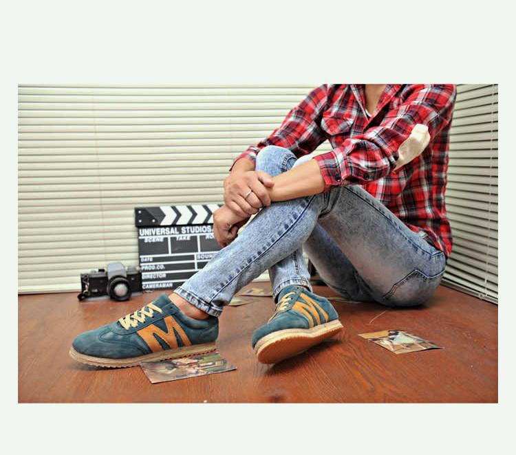 бесплатная доставка мужские из натуральный кожи спорт работает кроссовки мужчины скейтбординга туфли винтаж эспадрильи для мужчин # 007