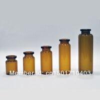 горячая распродажа 100 шт. 5 мл из темного стекла флакон пенициллина бутылка с алюминиевой крышкой