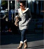 Korea женская капот пальто теплый на молнии верхняя одежда 2 цветов бесплатная доставка