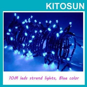 120V LED String Lights blue