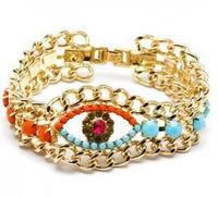 в продаже! е . б . новинка женщин золото посеребренные бусины цвет браслет магия глаз браслет ювелирные изделия