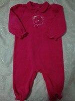 оки доки марка оригинал девочка микрофлис розовый медведь верхняя одежда комбинезон