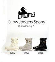 новый резиновая утка снег бегунов спортивный стеганый блестящий ПУ снегоступы водонепроницаемый