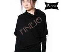 корейских женщин летучая мышь нерегулярные вязать свитер с длинным рукавом клобук-образным вырезом 3 цветов бесплатная доставка 7855