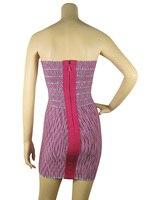 платье bandage, жаккард розовый низкая одного-сократить с низким на спине пром изделия элегантны корзину платья j161