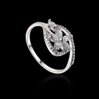 мода женщин обручальные кольца, кожа циркон белое золото цвет палец кольцо девушки, бесплатная доставка 2rw-04