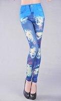 новое постулат Seal джинсы для женщин мода леггинсы высокое качество - k036