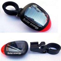 бесплатная доставка красный 2 из светодиодов солнечной энергии велосипед сзади хвост яркий свет лампы