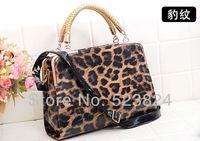 бесплатная доставка новое качество мода леопард дизайн женская сумма кредит кожи сумка d3628