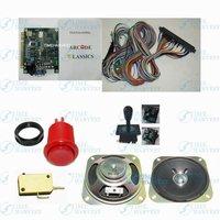 1 компл. игровой автомат частей и печатных плат включают в себя: 1 шт. 60 в 1 классическая игра доска, 1 * жгут проводов, 10 * красная кнопка, 1 * joysick, 1 * динамик