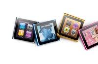 прямая поставка бесплатная доставка 8 гб 6-го поколения цифровой МР3-плеер МР4 плеер с FM 1.8 дюймов экран датчик