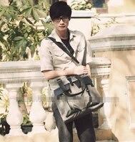 мода оксфорд ткань с кожаной сумкой человек сумка-слинг плечи сумка человек сумочка наклонена назад мужская сумка