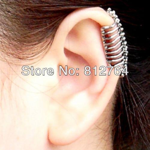 Ylj03 E076 1 Punk Bone Skull Earrings Vintage