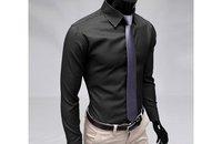 новые полосы, тонкий рубашка с длинными рукавами свободного покроя мода и досуг рубашка