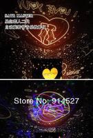 бесплатная доставка яркий из светодиодов проектор с USB музыкальный планетарий созвездия лампы освещения UR день святого валентина любовь в форме сердца подарки