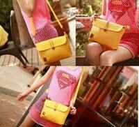 милые дамы желтый слинг неделю сумки для iPad сумки женская клатч вечерняя сумочка кожа цвета конфеты корейский оптовая продажа