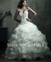 бесплатная доставка бестселлеры милая ручной цветок свадебные платья свадебное платье любой размер / цвет