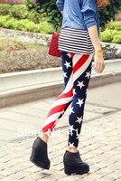 сбытовая! женщины сша флаг сша ткань в полоску пространство звезды printleggings колготки чулочно-носочные изделия брюки